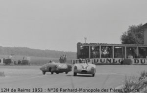 12 Heures Reims 1953 Panhard X85 N° 36 Chancel Freres